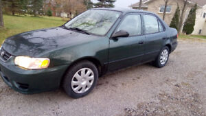 Toyota Corolla,solid, certified, new brakes, exhaust, runs great