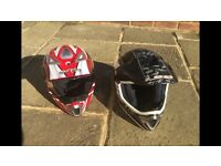 2 Child Motorbike Go Kart etc. Helmets