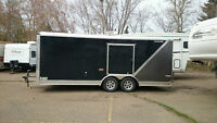 20-ft New Enclosed Trailer For Rent!