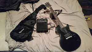 Maestro guitar with amplifier