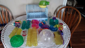 Hamster/gerbil cage and Habitrail accessories