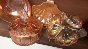 Various Carnival Indiana Glass Dishes