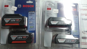 Bosch 18V 4.0Ah twin pack batteries Cornwall Ontario image 1