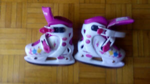 Girls Adjustable Ice Skates Size 8-11