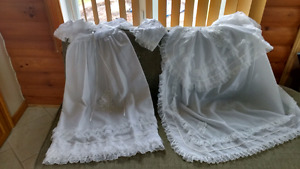 Christening silk dress with cape & hat for sale