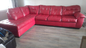 Sofa modulaire rouge