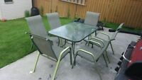 Patio Rectangle Table with 6 chairs