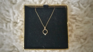 Diamond Necklace in 10k Gold