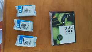 HP ink cartridges 74 and 75