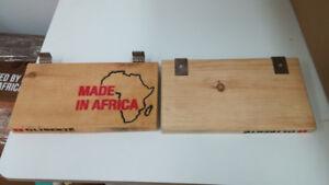 Wooden slatwall shoe shelves