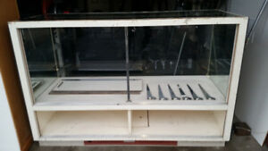 Glass display case, showcase, cash desk, display case, counter