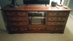 Maple Dresser with Desk and Hutch $210.00