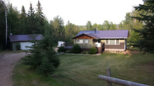 House for rent - Modern, Clean-5 mins S of Athabasca;  3 Acres