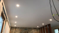 ** pot light installations by licensed electrician **