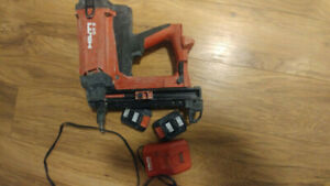 Hilti GX 2 short stroke gas nailer with charger and 2 batteries
