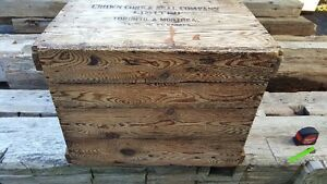 Antique wood box / crate Kitchener / Waterloo Kitchener Area image 5