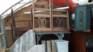 8 Harpback chairs for sale
