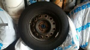 Goodyear Nordic winter tires 195/70/R14 with steel rims(4x100) Kitchener / Waterloo Kitchener Area image 4