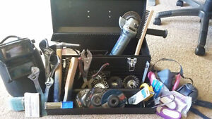 Full welding tool kit and supplies
