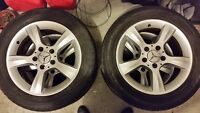 4 Mags Mercedes with tires/pneus 225/50/R16
