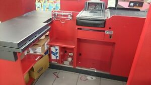 Retail Counter Grocery Checkout Conveyor & Scanner EUC Pan-Osten