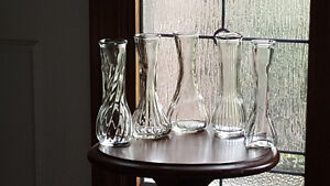 Clear glass bud vases - 6 inches tall London Ontario image 1