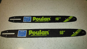 """New Poulan reduced kickback guide bar in 16"""" & 18"""" sizes"""