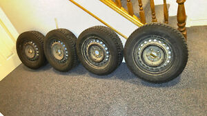 Winter tires and steel rims London Ontario image 1