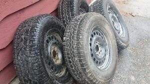 Winter tires and rims off a 2012 Ford Escape Kitchener / Waterloo Kitchener Area image 2