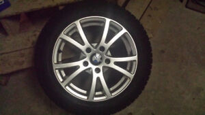 BMW snow tires with rims