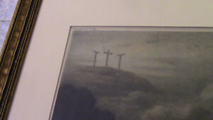 1915 Scarce Print Virgin Mary at Calvary by E. Piaz, France Kitchener / Waterloo Kitchener Area image 3