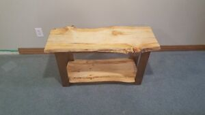 slab live edge bench or table
