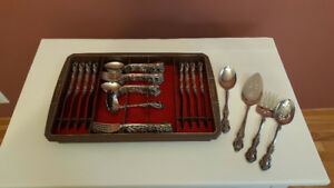 Oneida Stainless flatware-set of 8-Michelangelo pattern