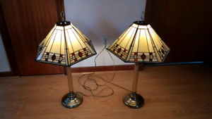 Pair of Stained Glass Lamps *REDUCED*