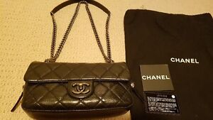 Chanel Black Small Boy Chain Easy Flap Soulder or Messenger