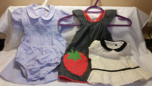 8 Beautiful Baby Girls Dresses,Gap,Gymboree,Janie&Jack,Lil Bitty
