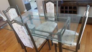 5 Pcs Glass Dinette $100