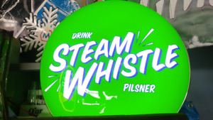 STEAM WHISTLE BEER SIGN.