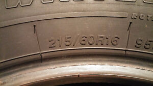 4 Firestone Winterforce 215 60 16 winter tires in excellent cond Cambridge Kitchener Area image 5