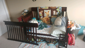 Crib and Mattress (3 in 1)