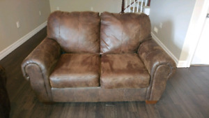 Faux Bomber Jacket Leather Love Seat