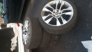 19 inch OEM Hyundai Genesis Rims and Tires
