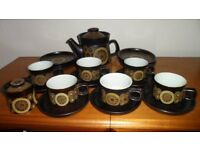 Denby Arabesque Teaset for six, all items in pristine condition