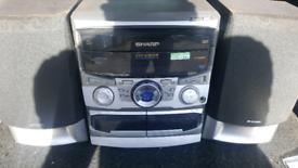 Sharp multichanger cd tape hifi CAN DELIVER