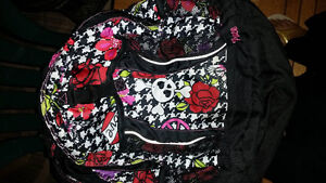 Assorted backpacks and lunchbags