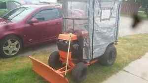 Snow plow wheel horse
