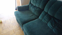Forest green  Couch Recliner