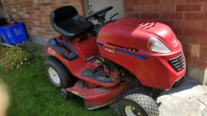 TORO 42in riding mower with snowblower attachment
