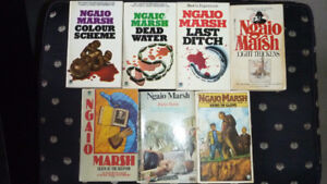 Books by Ngaio Marsh, Dead Water, Hand in Glove, Last Ditch, etc