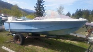 Boat, Boat trailer, and 55 Outboard motor